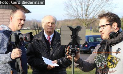 """Das Team beim Videodreh """"Das Pestkreuz"""".jpg"""