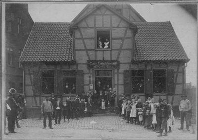 Familienfoto Voss an der Wiescherstraße 4