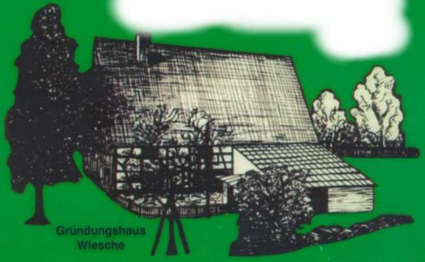 Gründungshaus Wiesche auf dem Titelblatt der Festschrift [1]