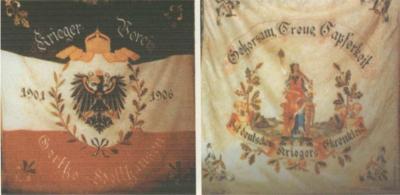 """Fahne des """"Krieger-Verein"""" Gerthe - Holthausen 1901 - 1096"""