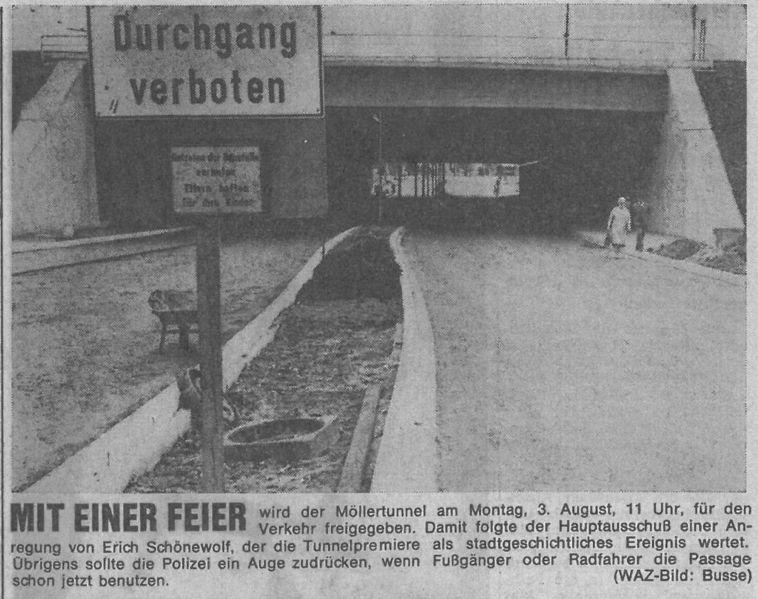 Datei:Neuer Möllertunnel, WAZ vom 21.07.1970.jpg