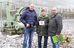 "Videodreh zum Video ""Platz am Denkmal"". Marcus Schubert, Anna-Maria Penitzka, Thorsten Schmidt (v. l.)"