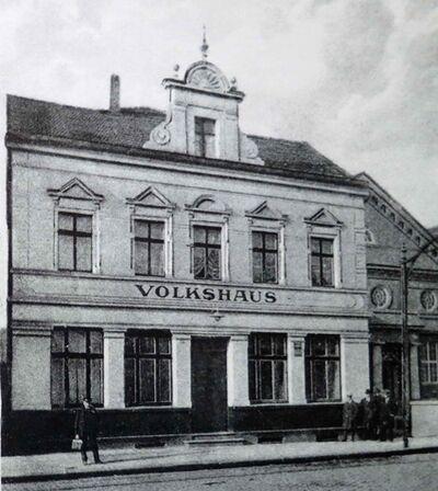 Das Volkshaus kurz nach Eröffnung.