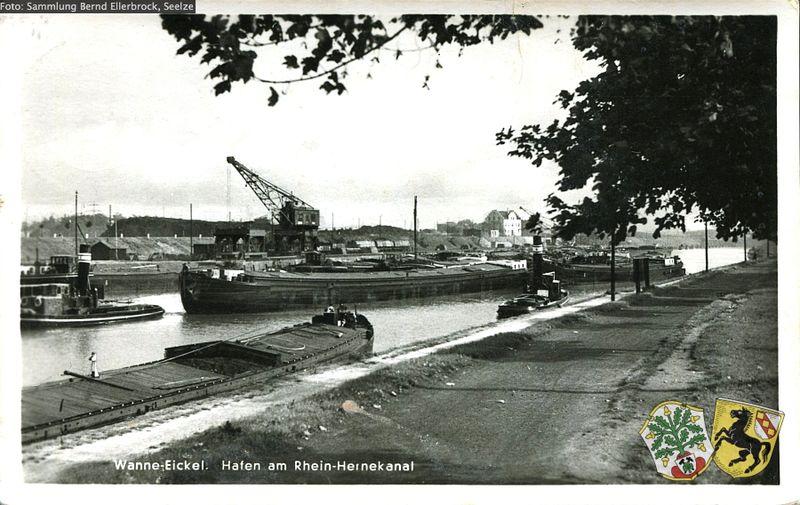Datei:Wanne-Eickel Hafen am RHK Sammlung Bernd Ellerbrock oJ.jpg